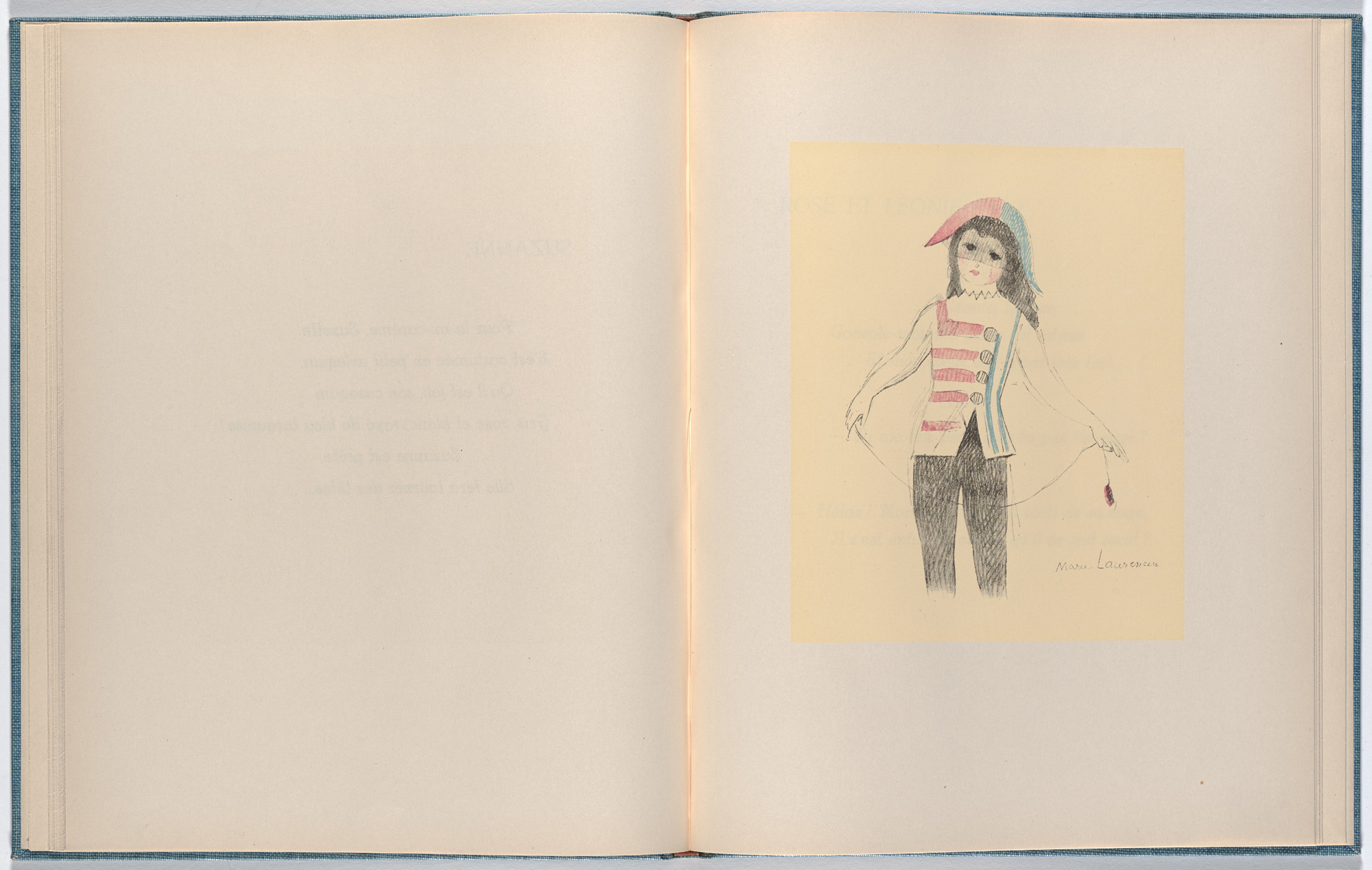 Marie Laurencin. Plate (folio 22) from Les Petites filles (The Little Girls). 1942