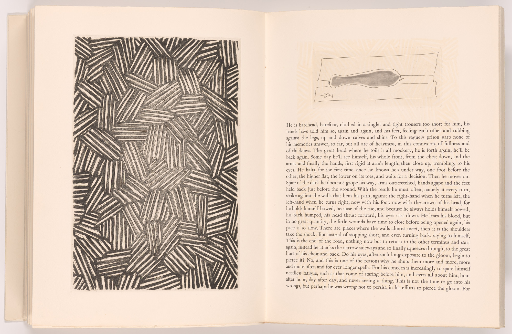 Jasper Johns. Leg (d) (headpiece, folio 12) from Foirades/Fizzles. 1975–76, published 1976