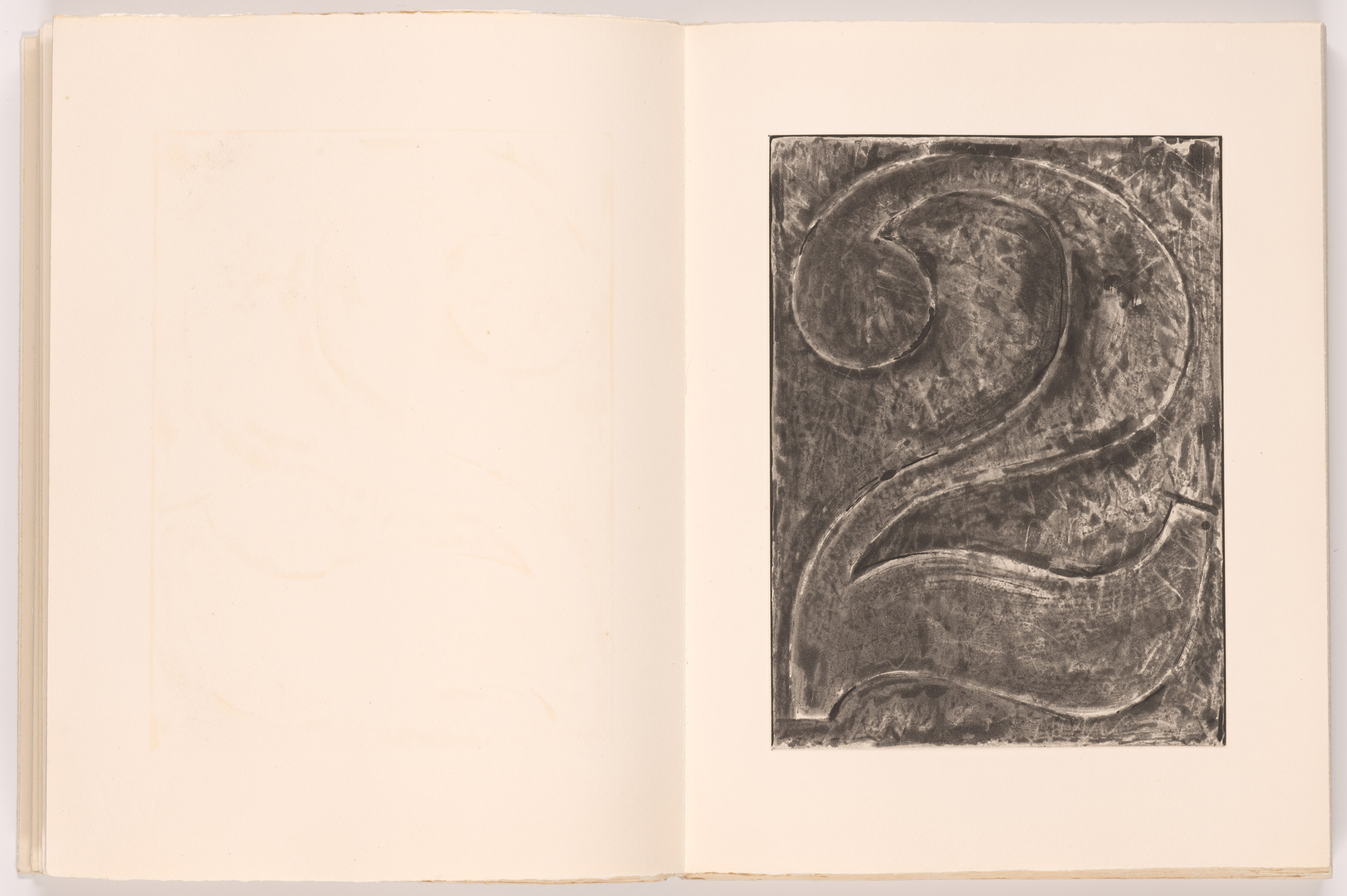 Jasper Johns. Numeral 2 (plate, folio 7) from Foirades/Fizzles. 1975–76, published 1976