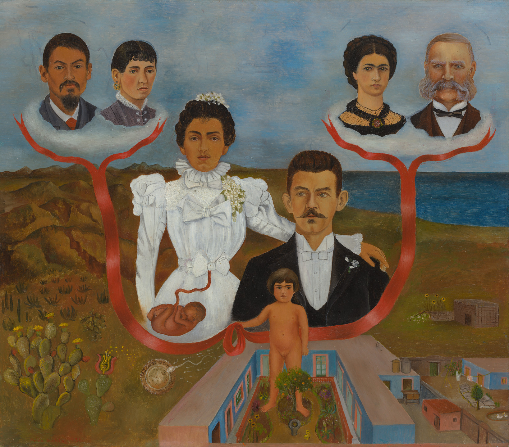 Frida Kahlo. My Grandparents, My Parents, and I (Family Tree). 1936