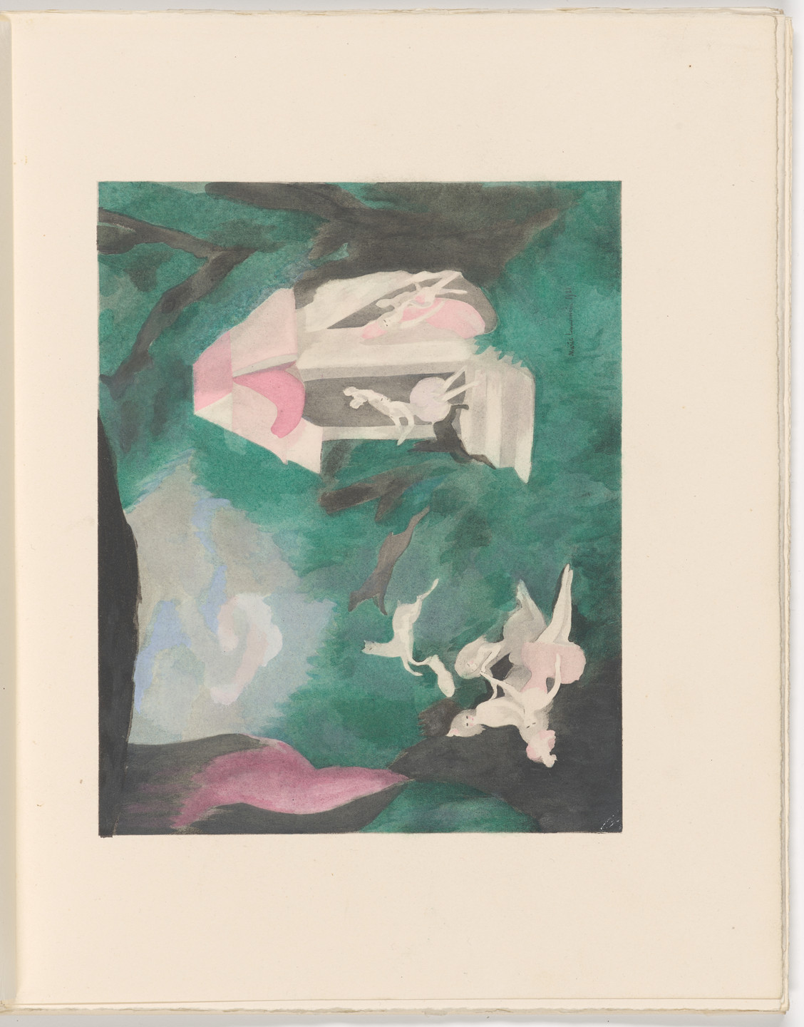 Marie Laurencin. Plate (folio 21) from Les Biches, vol. I. 1924