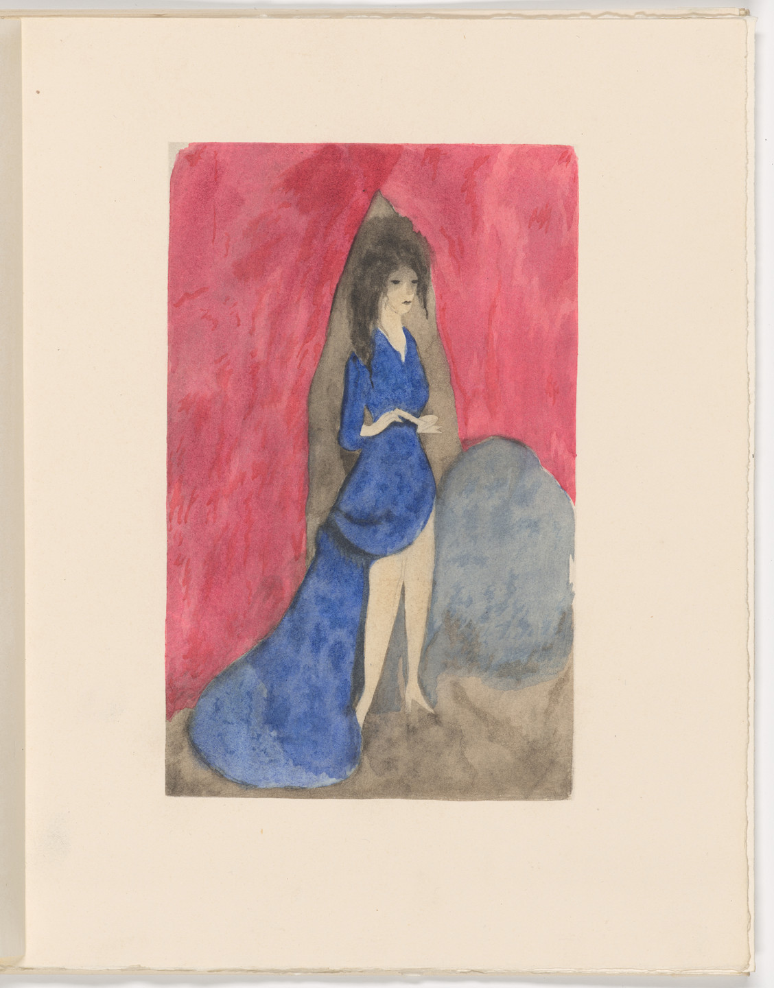 Marie Laurencin. Plate (folio 28) from Les Biches, vol. I. 1924
