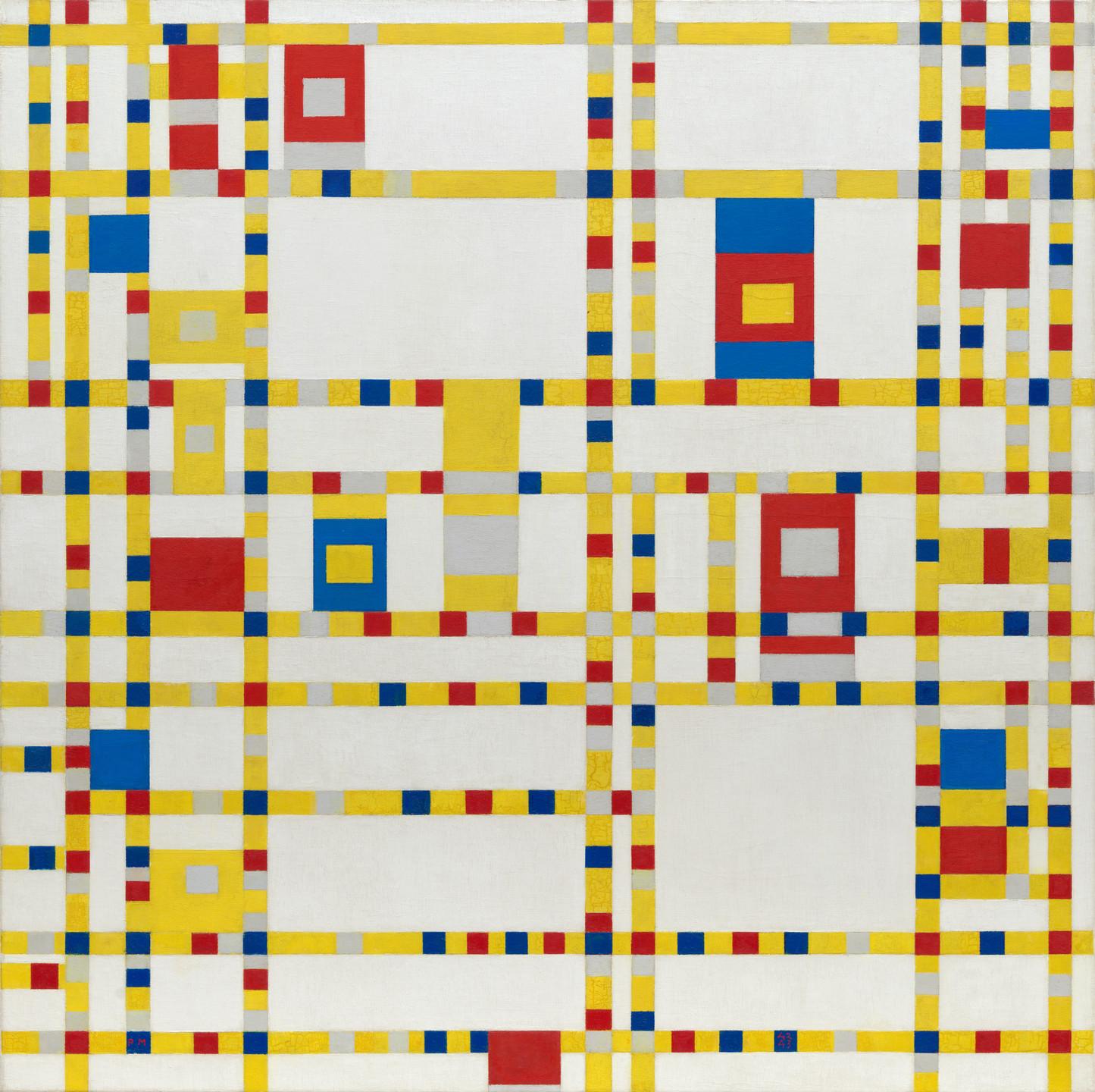 Piet Mondrian. Broadway Boogie Woogie. 1942-43 | MoMA