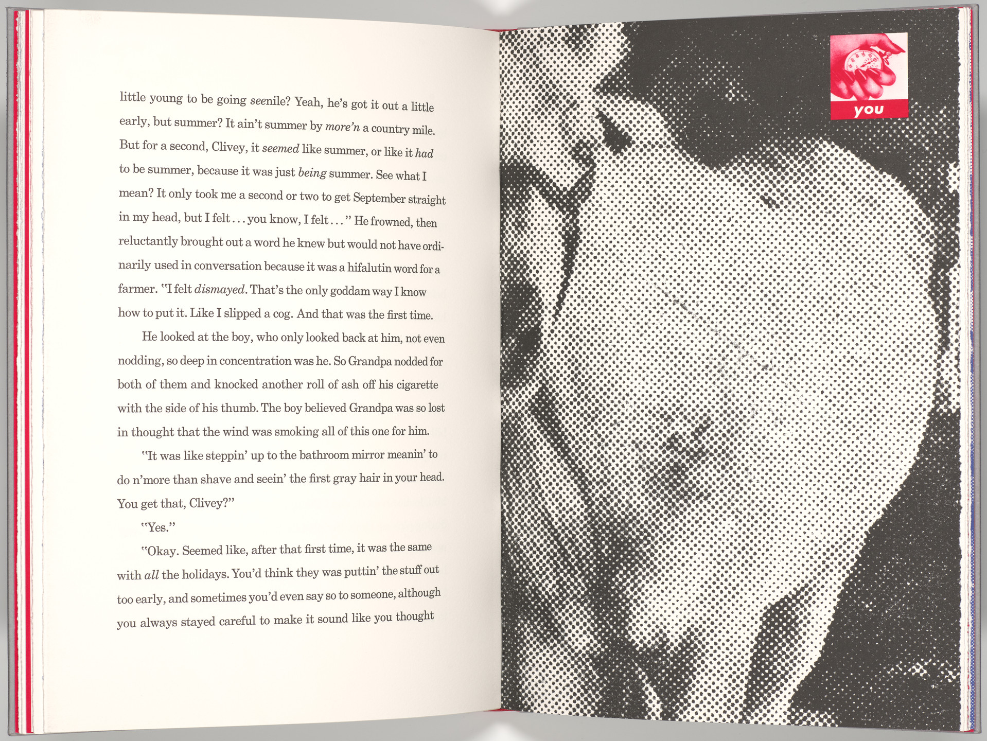 Barbara Kruger. Plate (folio 23) from My Pretty Pony. 1988