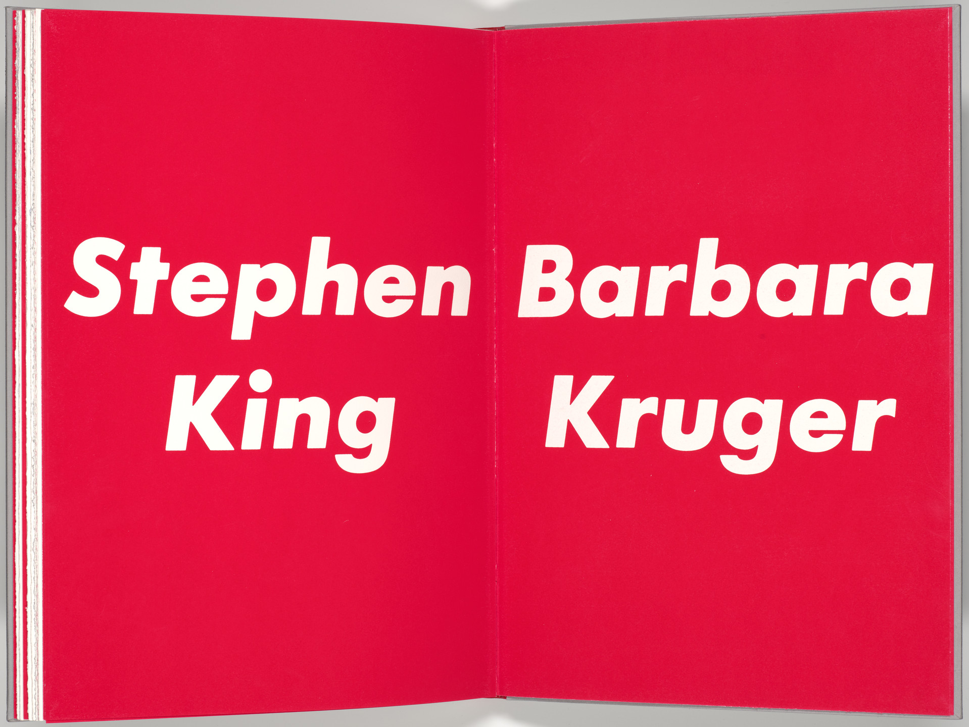 Barbara Kruger. Double page plate (folios 31 verso and 32) from My Pretty Pony. 1988
