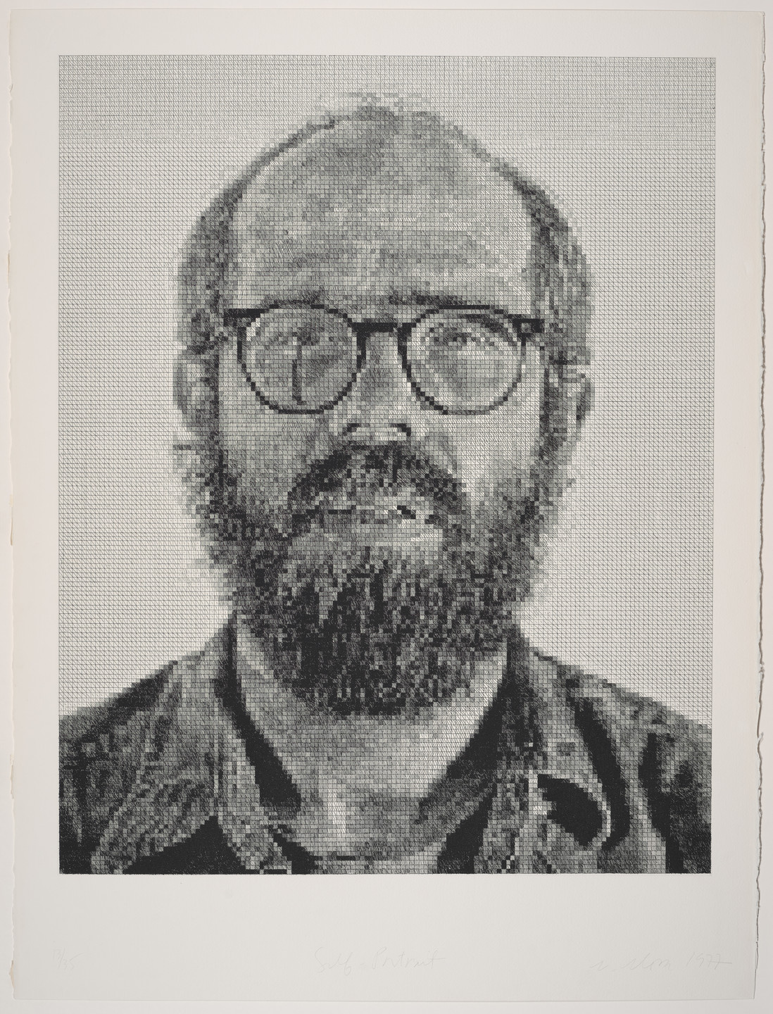 Chuck Close. Self-Portrait. 1977