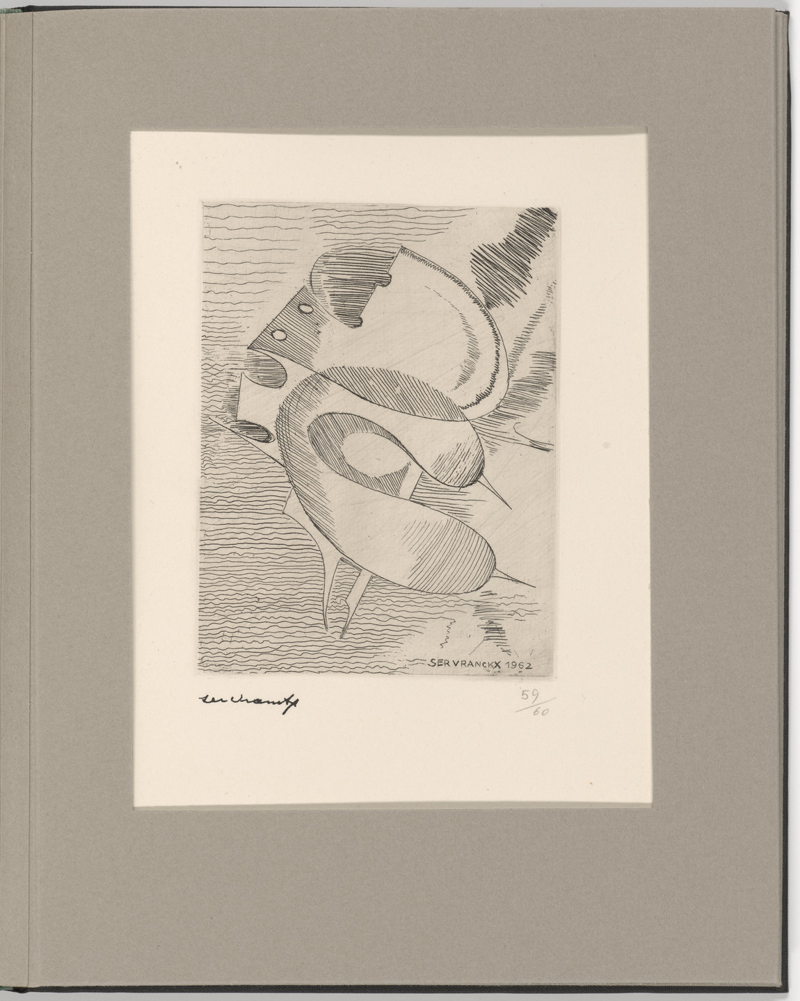 Victor Servranckx. Plate 18 from Futurists, Abstractionists, Dadaists: the Forerunners of the Avant-Garde, vol. I. 1962