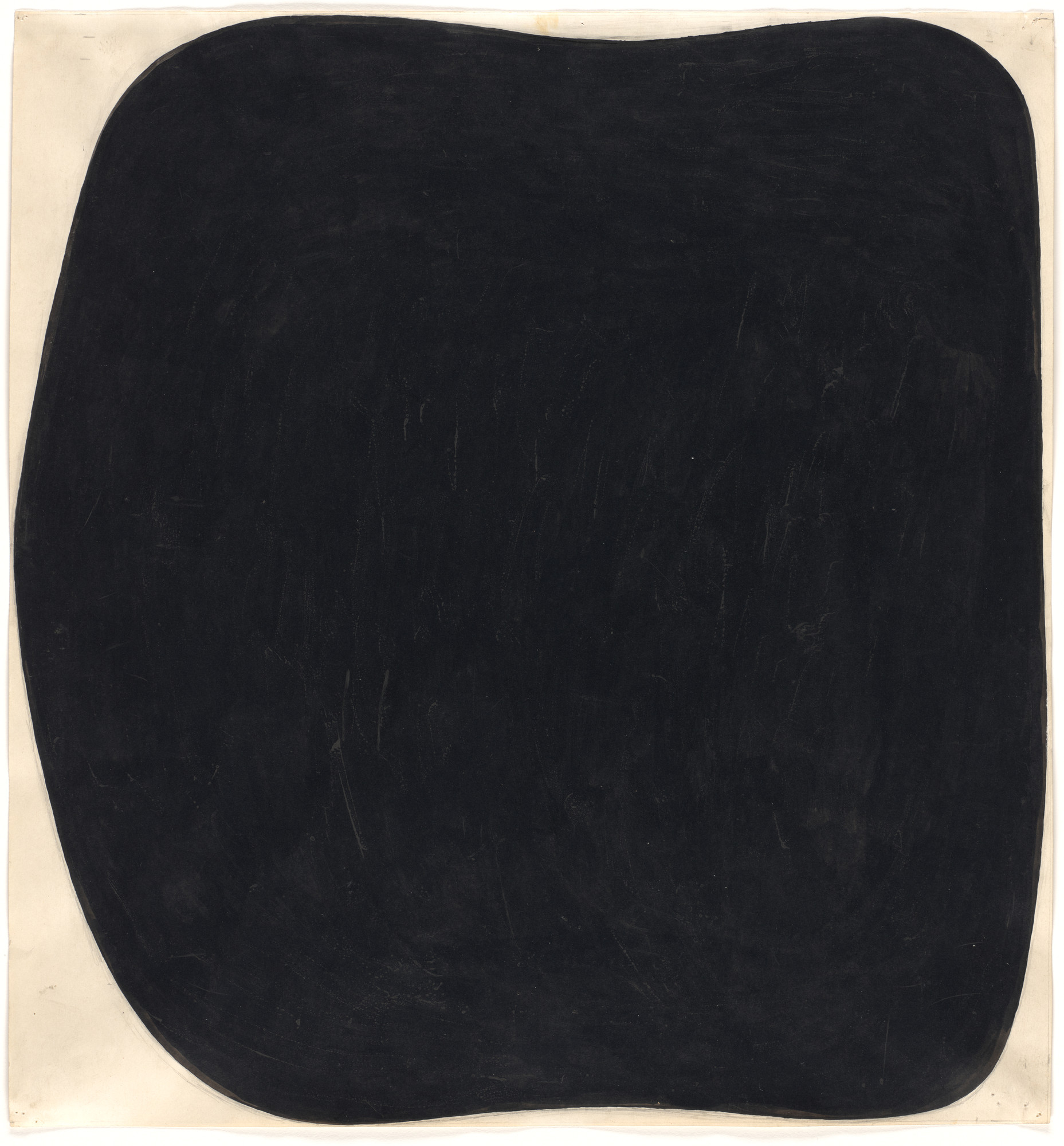 Ellsworth Kelly. Study for Black Ripe. 1954