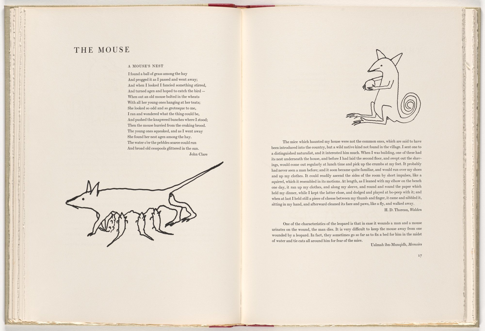 Alexander Calder. In-text plate (page 16) from A Bestiary. 1955