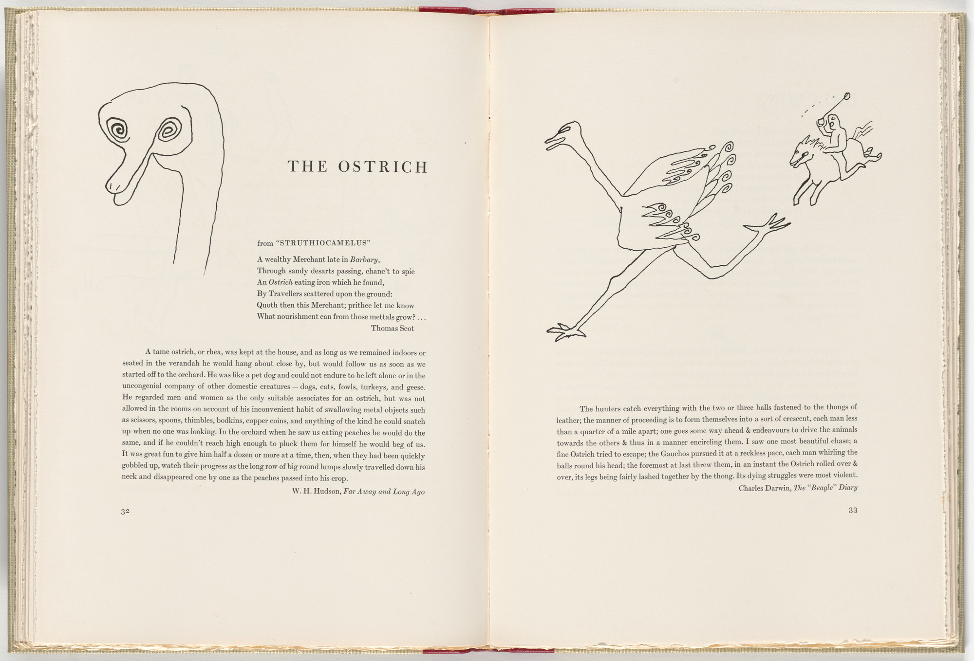 Alexander Calder. In-text plate (page 33) from A Bestiary. 1955