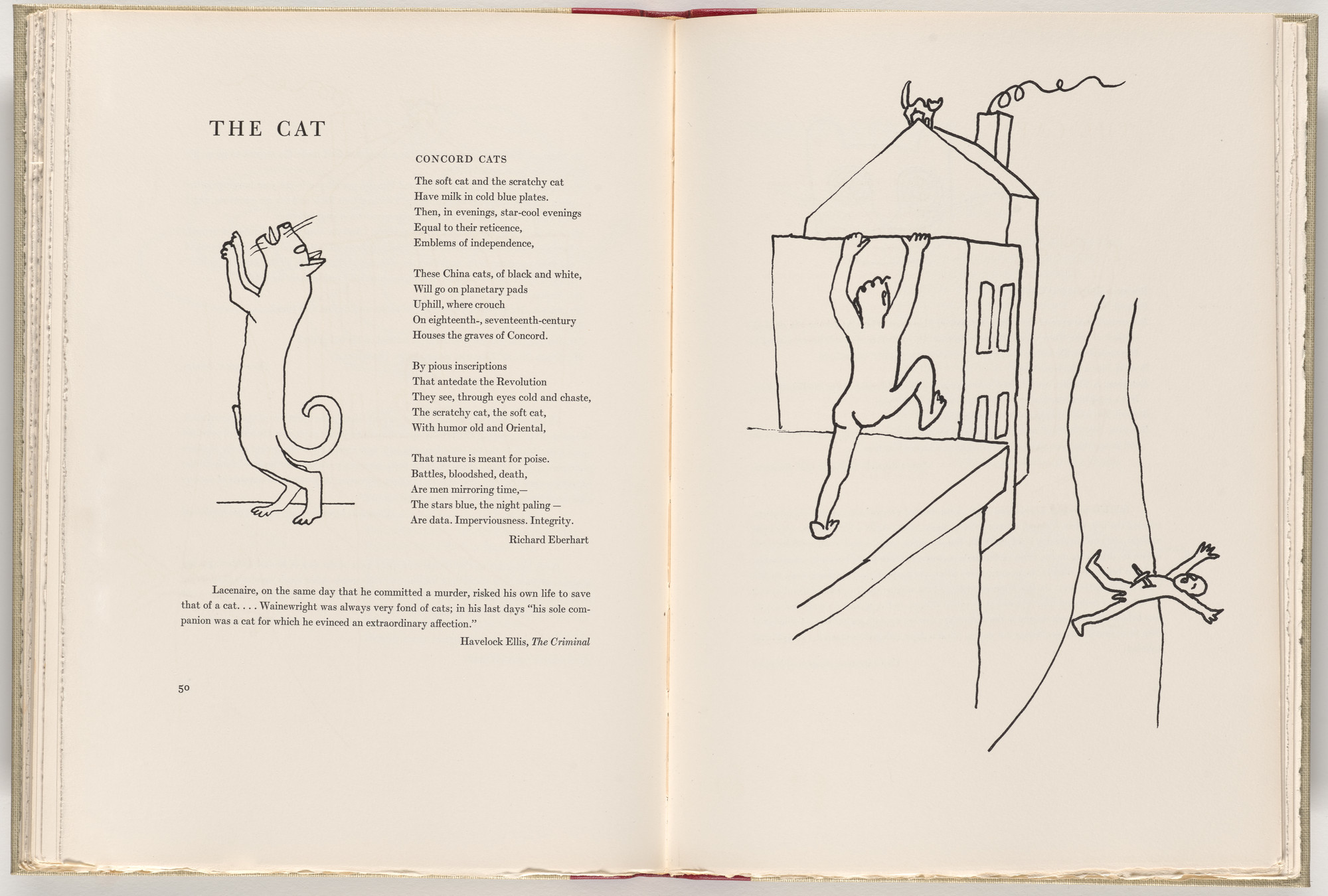 Alexander Calder. In-text plate (page 50) from A Bestiary. 1955