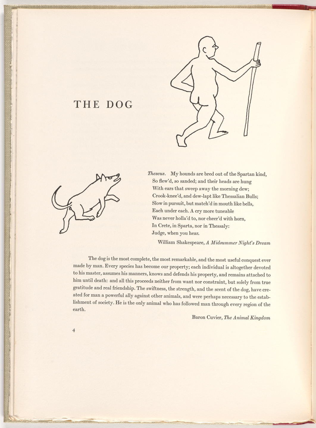 Alexander Calder. In-text plate (page 4) from A Bestiary. 1955