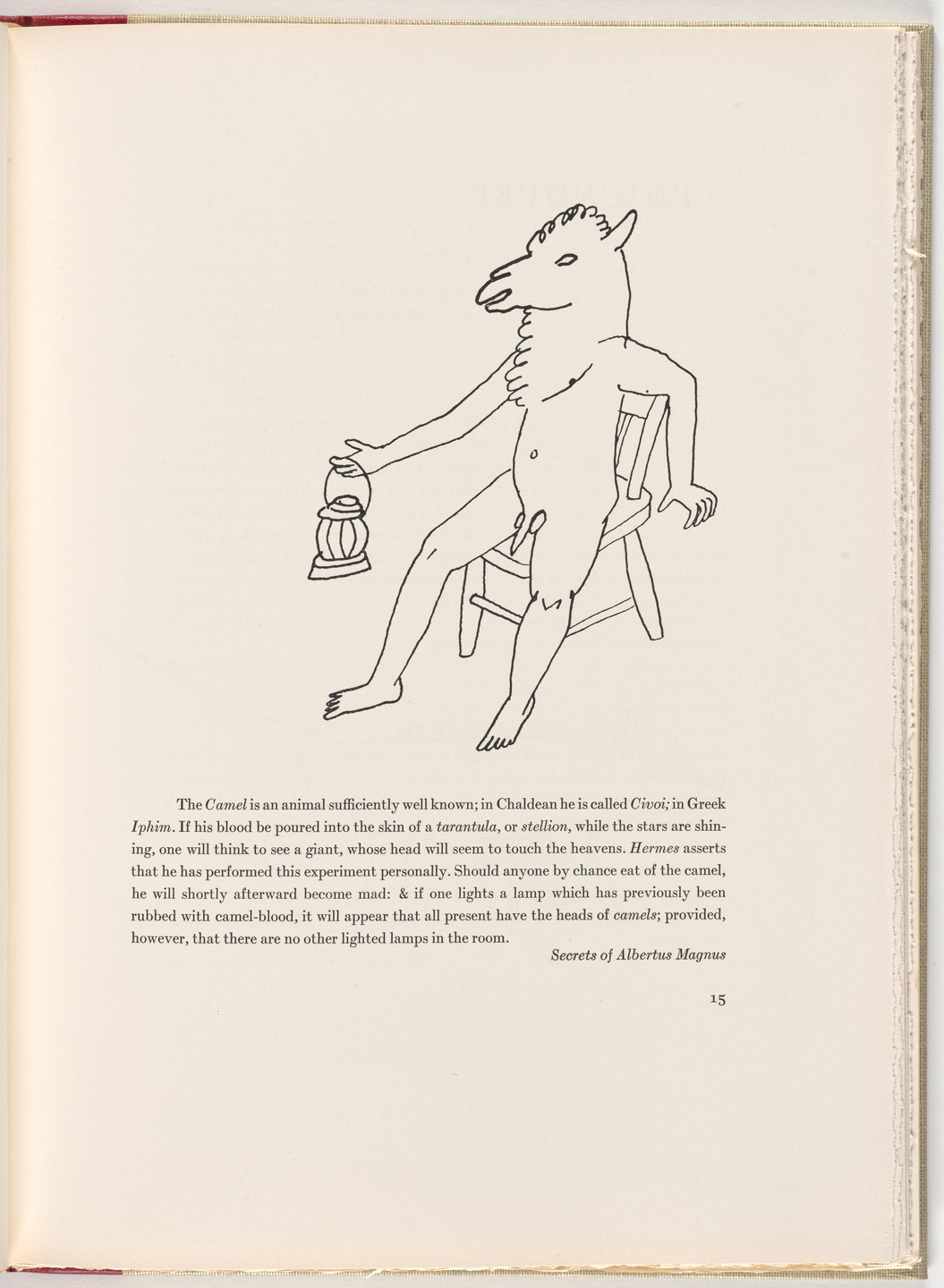 Alexander Calder. In-text plate (page 15) from A Bestiary. 1955