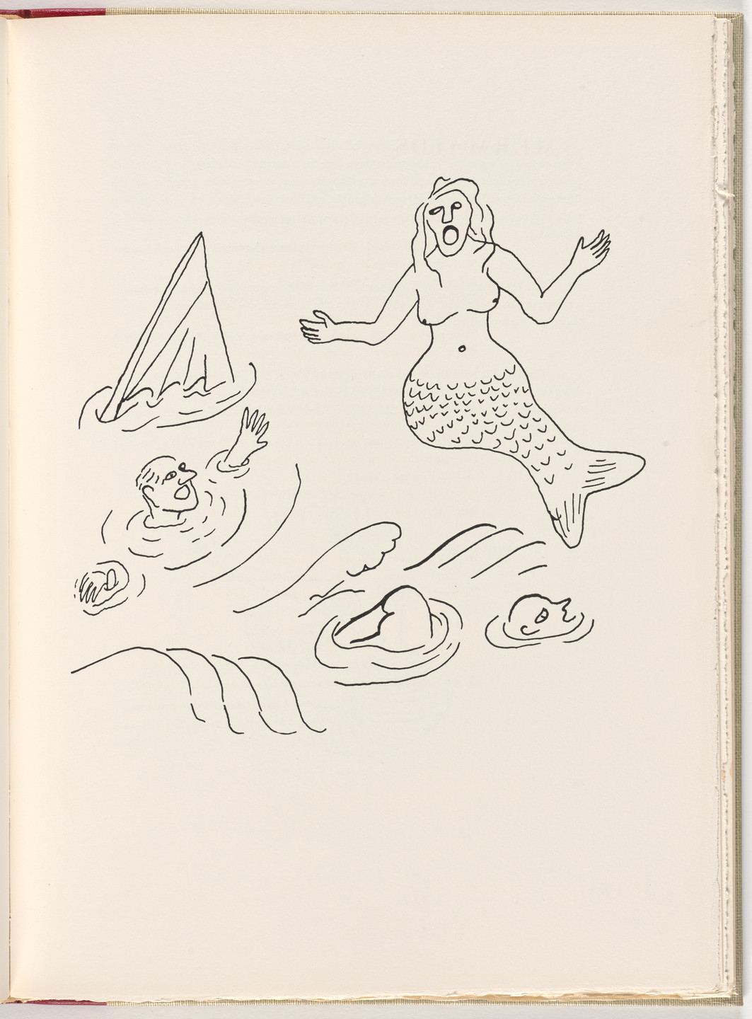 Alexander Calder. Plate (page 25) from A Bestiary. 1955