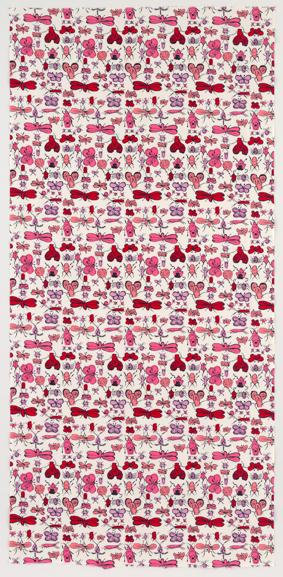 Andy Warhol. Happy Bug Day textile. c. 1955