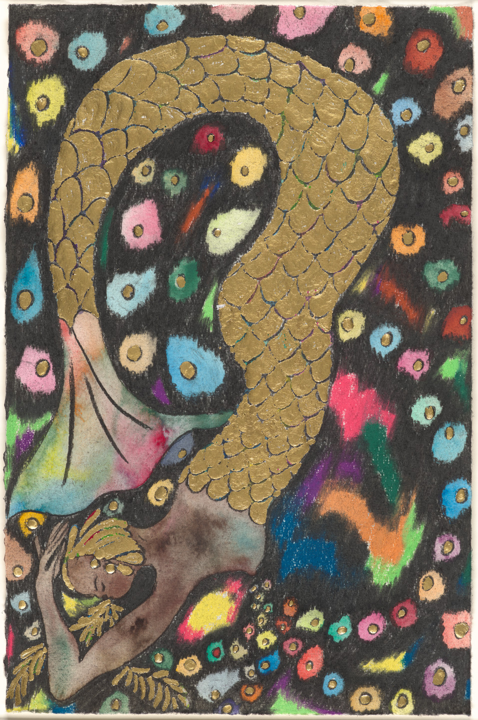 Chris Ofili. Nymph Dive (Rainbow). 2019