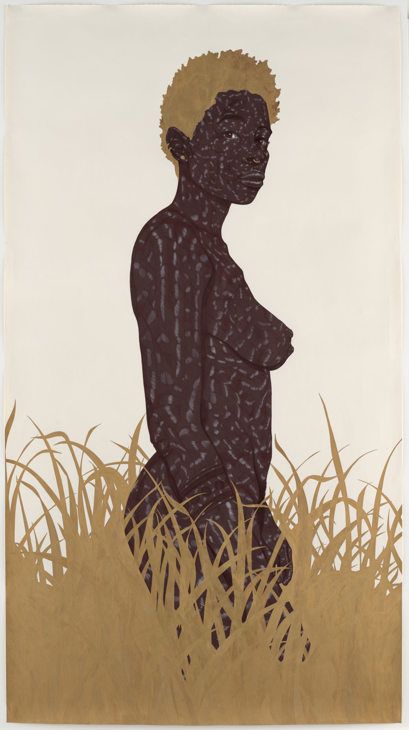 Toyin Ojih Odutola. Rather Than Look Back, She Chose to Look at You. 2011–13