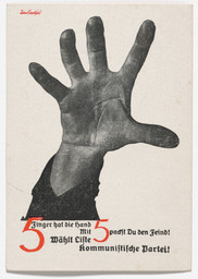John Heartfield (Helmut Herzfeld). The Hand Has Five Fingers (5 Finger hat die Hand). 1928