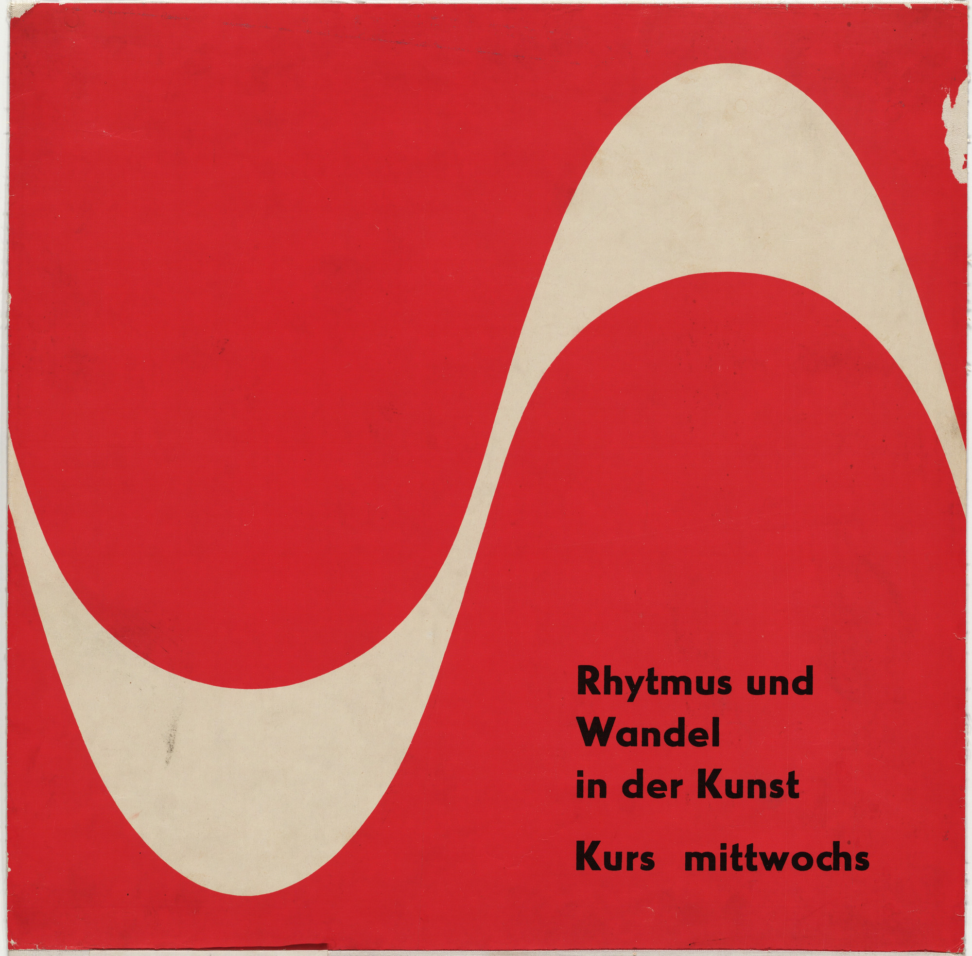 Otl Aicher (also known as Otto Aicher). Rhythmus und Wandel in der Kunst. c. 1950