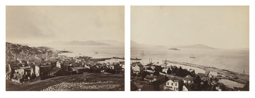 Carleton E. Watkins. San Francisco from Telegraph Hill: The Golden Gate and Alcatraz and the Bay. c. 1875