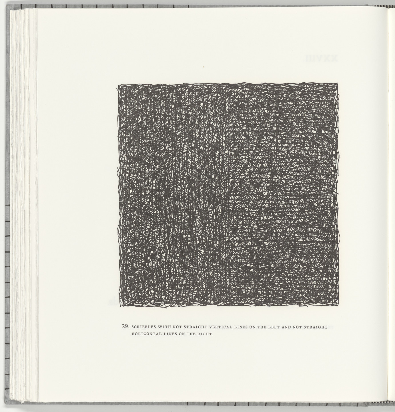 Sol LeWitt. Scribbles with Not Straight Vertical Lines on the Left and Not Straight Horizontal Lines on the Right (plate 29) from Squarings. 2003