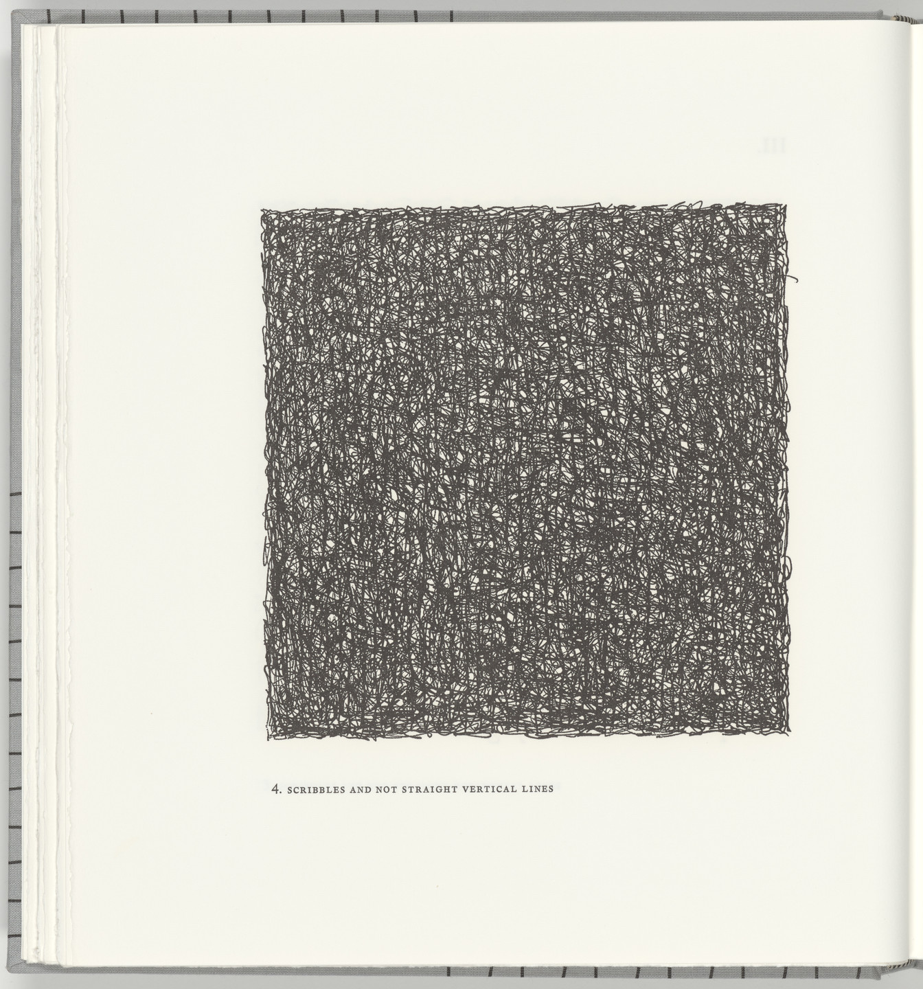 Sol LeWitt. Scribbles and Not Straight Vertical Lines (plate 4) from Squarings. 2003