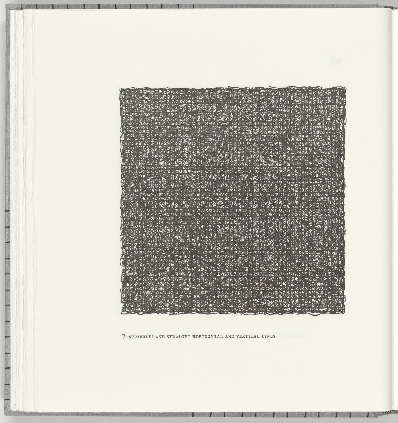 Sol LeWitt. Scribbles and Straight Horizontal and Vertical Lines (plate 7) from Squarings. 2003