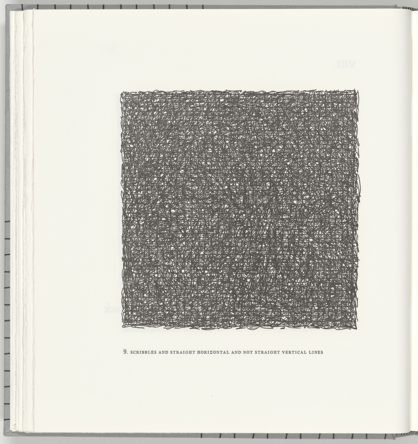Sol LeWitt. Scribbles and Straight Horizontal and Not Straight Vertical Lines (plate 9) from Squarings. 2003