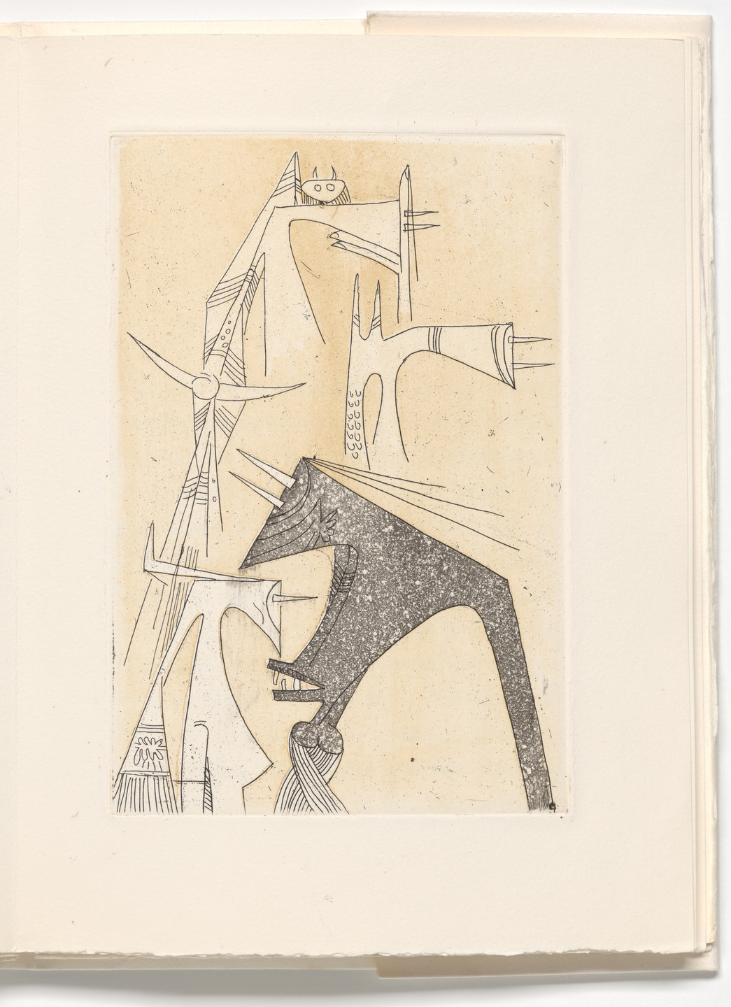 Wifredo Lam. Plate (page 33) from Le Rempart de Brindilles (The Rampart of Twigs). 1953