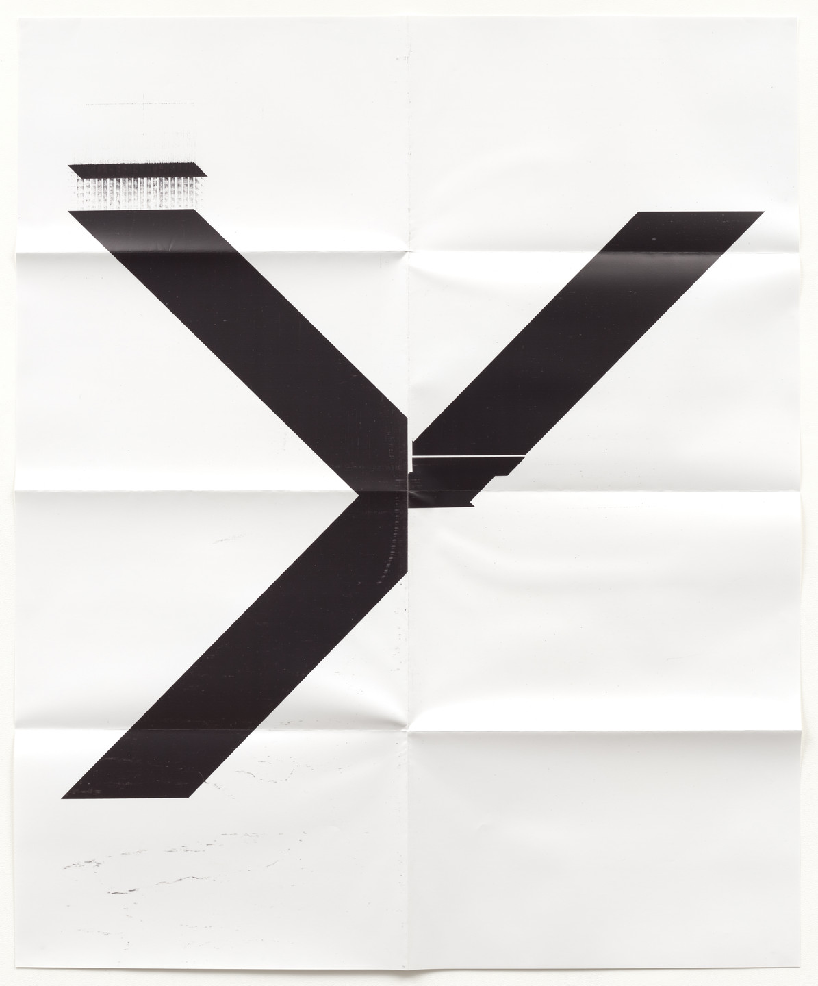 Wade Guyton. X Poster (Untitled, 2007, Epson UltraChrome inkjet on linen, 84 x 69 inches, WG1211). 2019