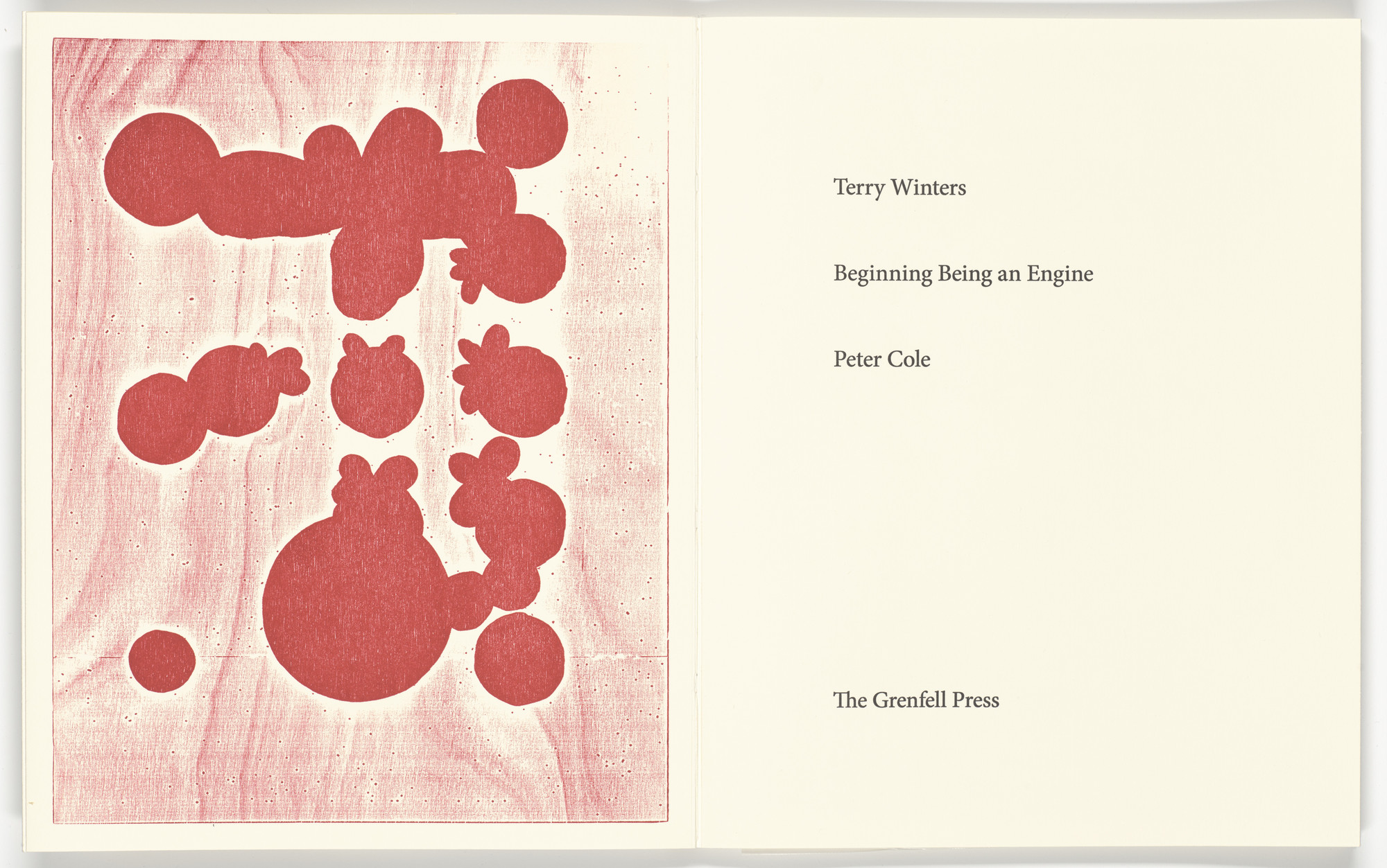 Terry Winters. Frontispiece from Beginning Being an Engine. 2020