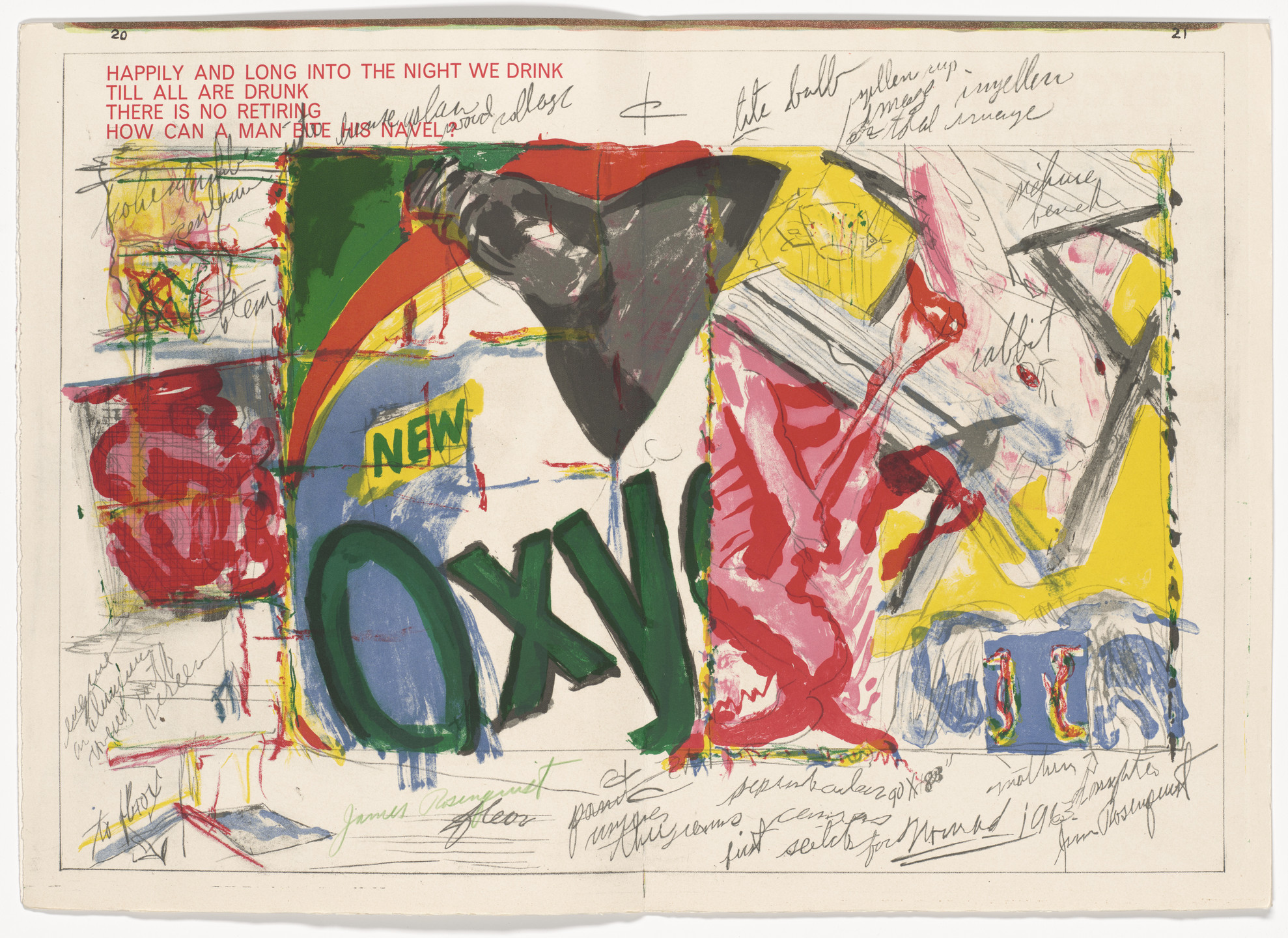 James Rosenquist. Double page plate (pages 20 and 21) from 1¢ Life. 1964