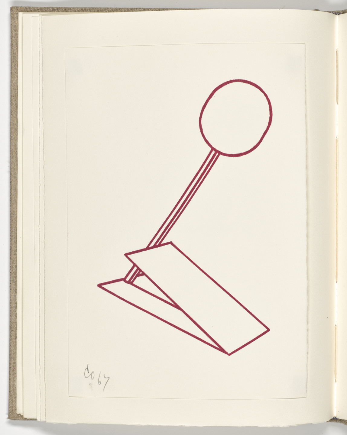 Claes Oldenburg. Plate (folio 10 verso) from Stamped Indelibly. 1967