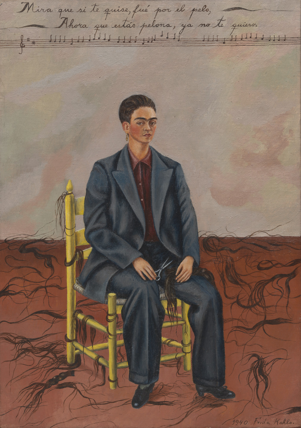 Frida Kahlo. Self-Portrait with Cropped Hair. 1940 | MoMA