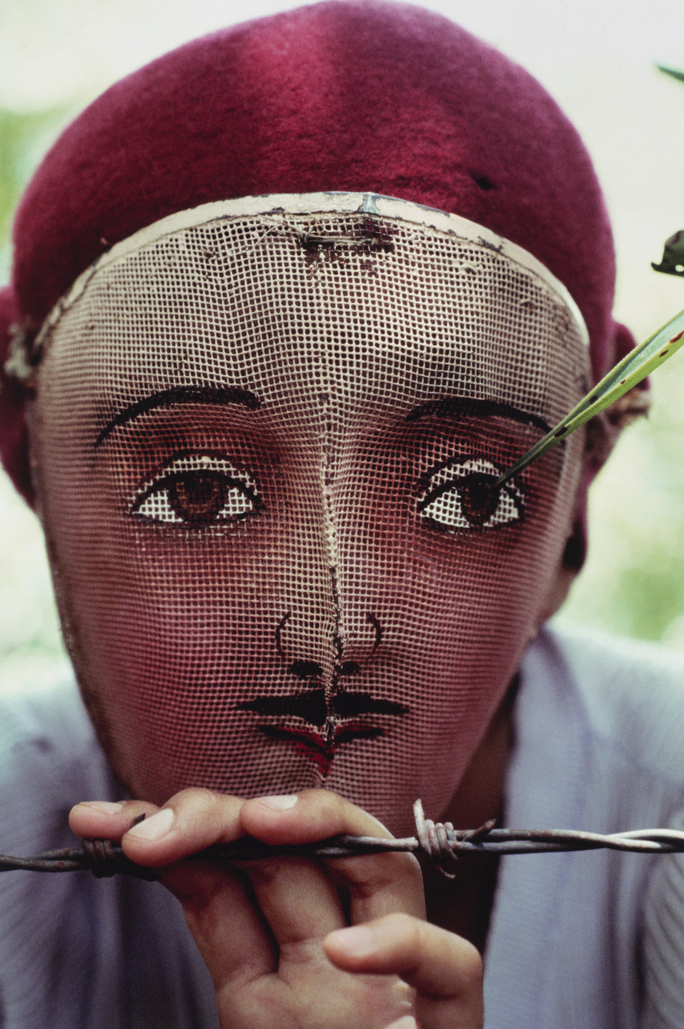 Susan Meiselas. Traditional mask used in the popular insurrection, Monimbo, Nicaragua. 1978