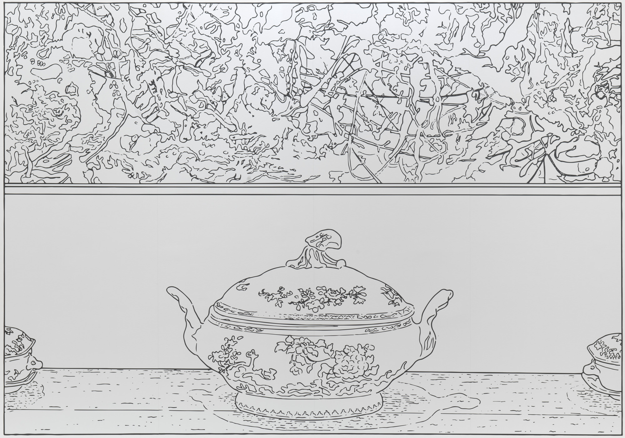 Louise Lawler. Pollock and Tureen (traced). 1984/2013