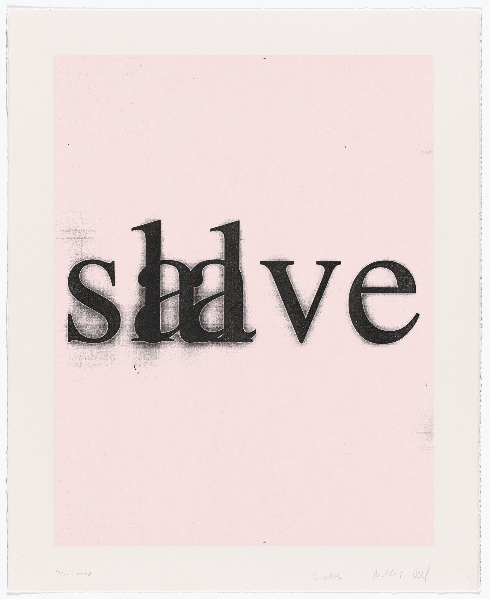 Christopher Wool, Richard Hell. Untitled from Psychopts. 2008