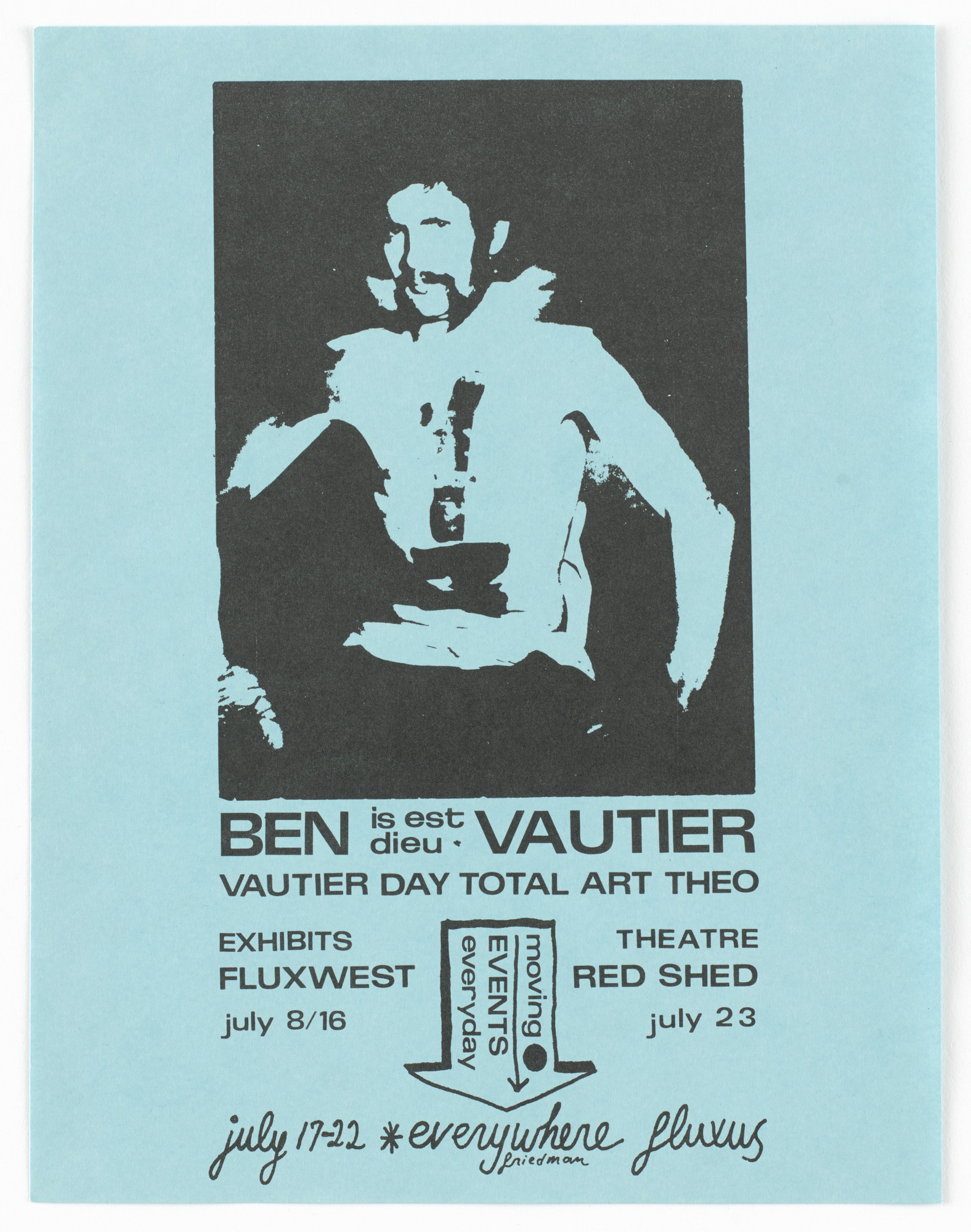 Ben Vautier. Vautier Day Total Art Theo. 1967
