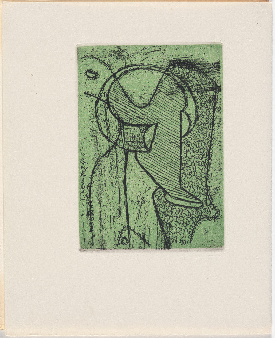 Max Ernst. Frontispiece from Monsieur Aa l'antiphilosophe: Volume I from L'Antitête. 1947–49, published 1949