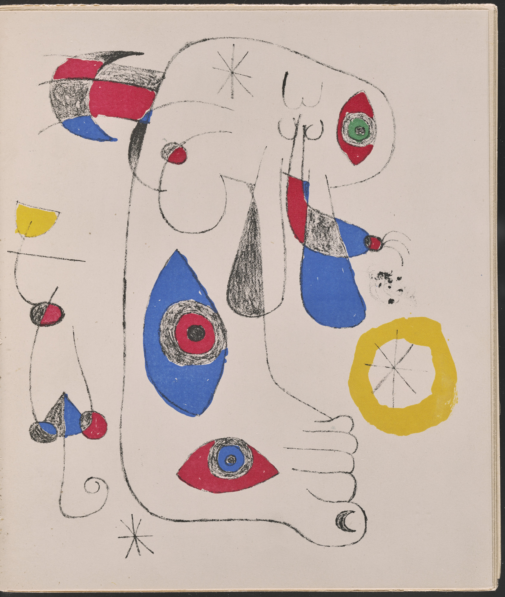 Joan Miró. Frontispiece from Le Surréalisme en 1947: Exposition Internationale du Surréalisme. 1947