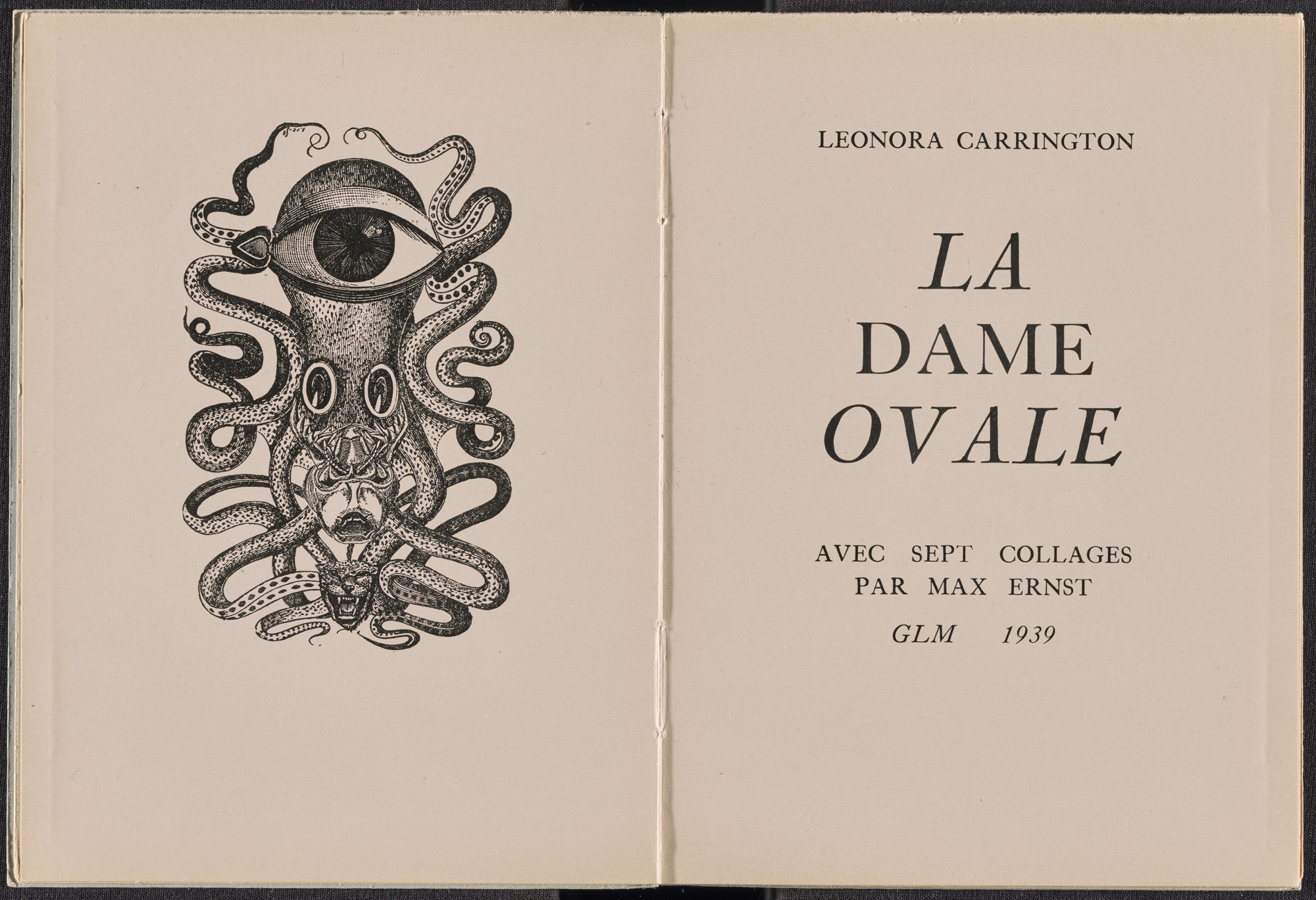 Max Ernst. Frontispiece (folio 3) from La Dame ovale. 1939