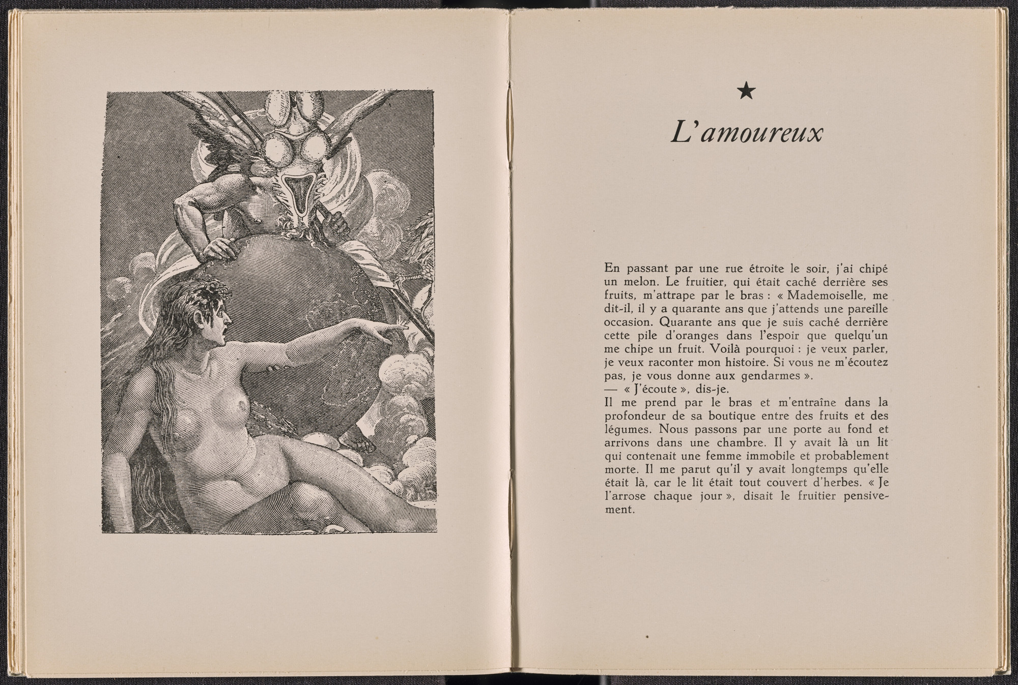 Max Ernst. Plate (folio 18) from La Dame ovale. 1939