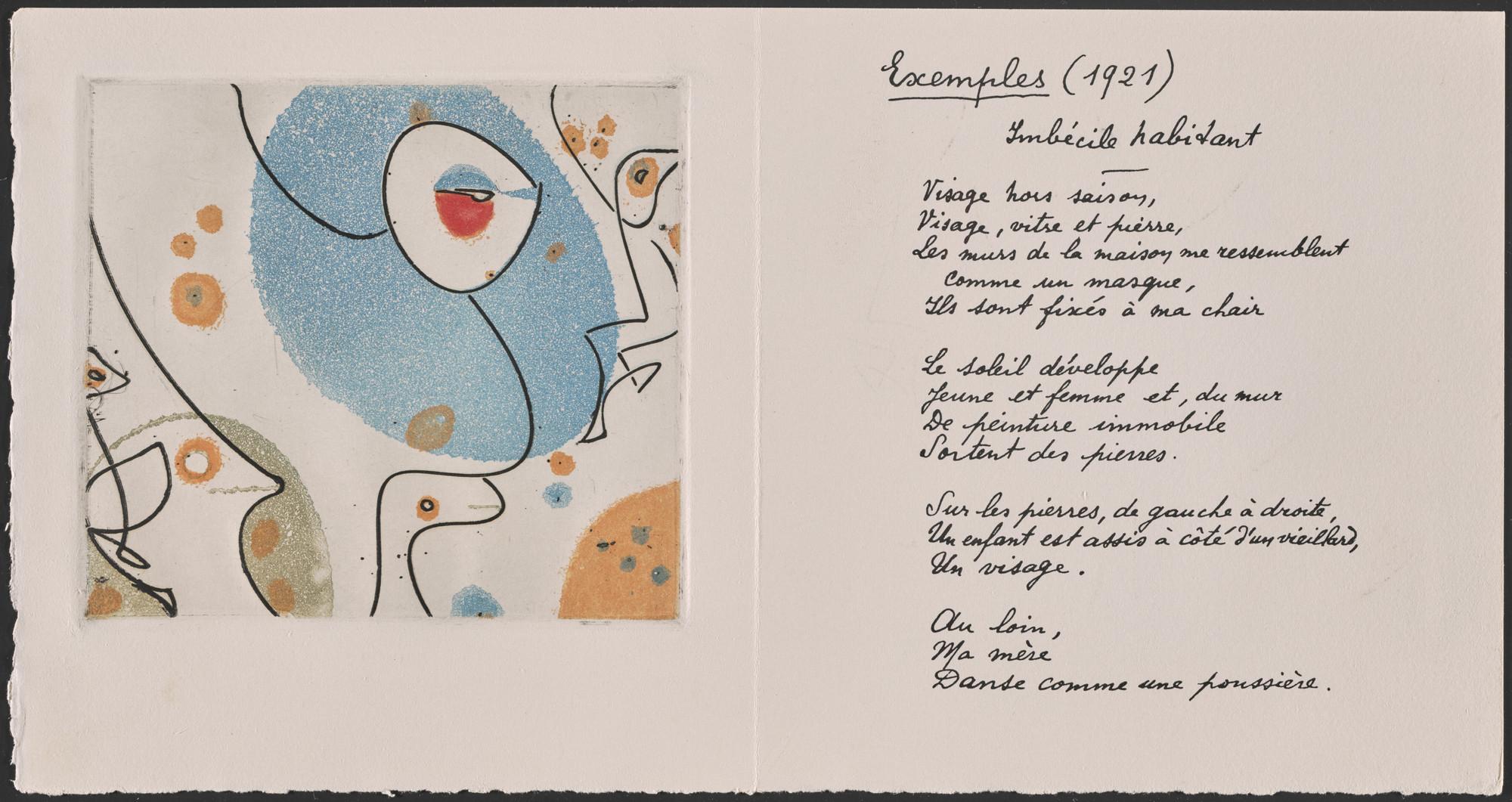 Max Ernst Plate From Un Poème Dans Chaque Livre 1956 Moma