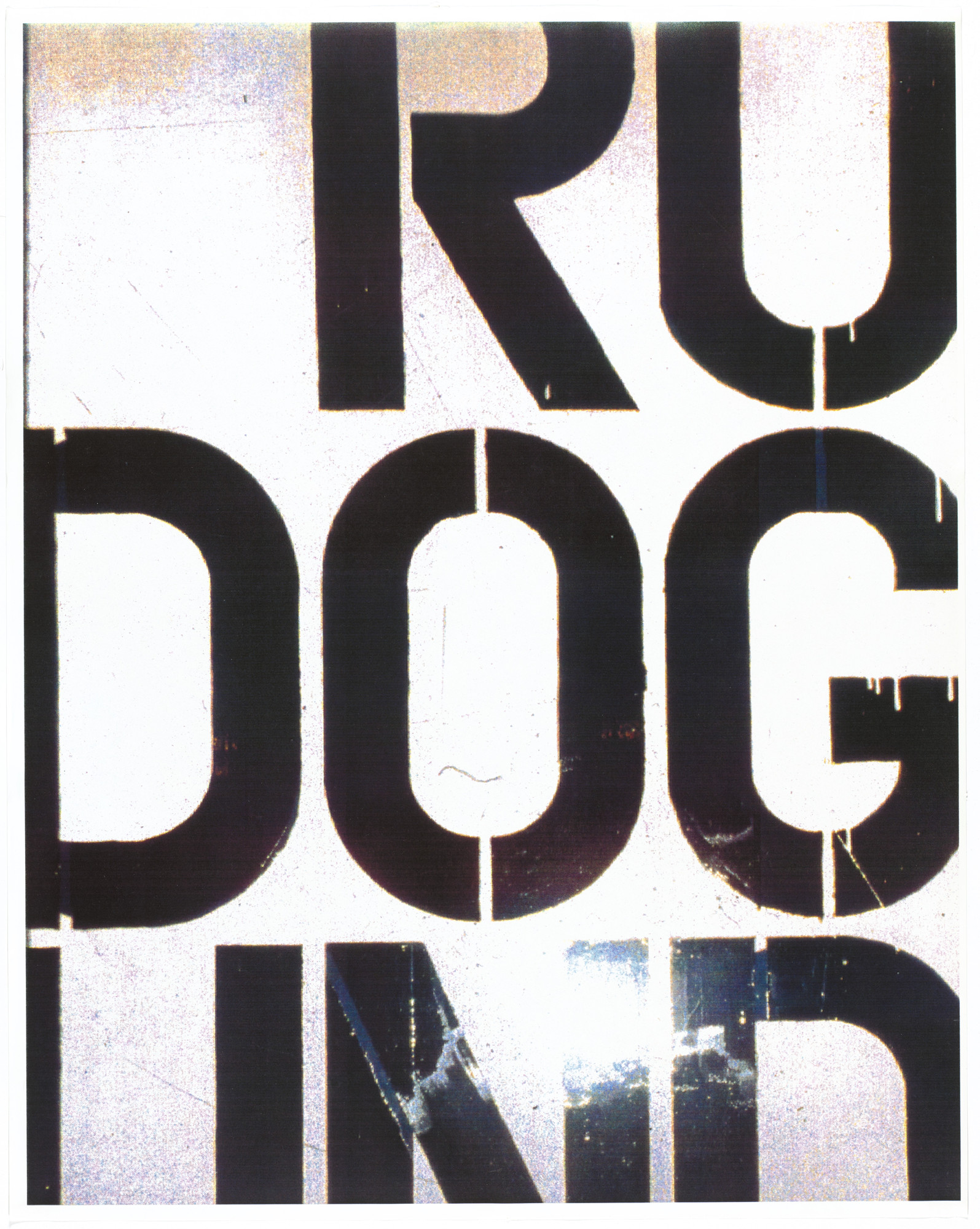 Christopher Wool. Untitled from an untitled portfolio. 1991