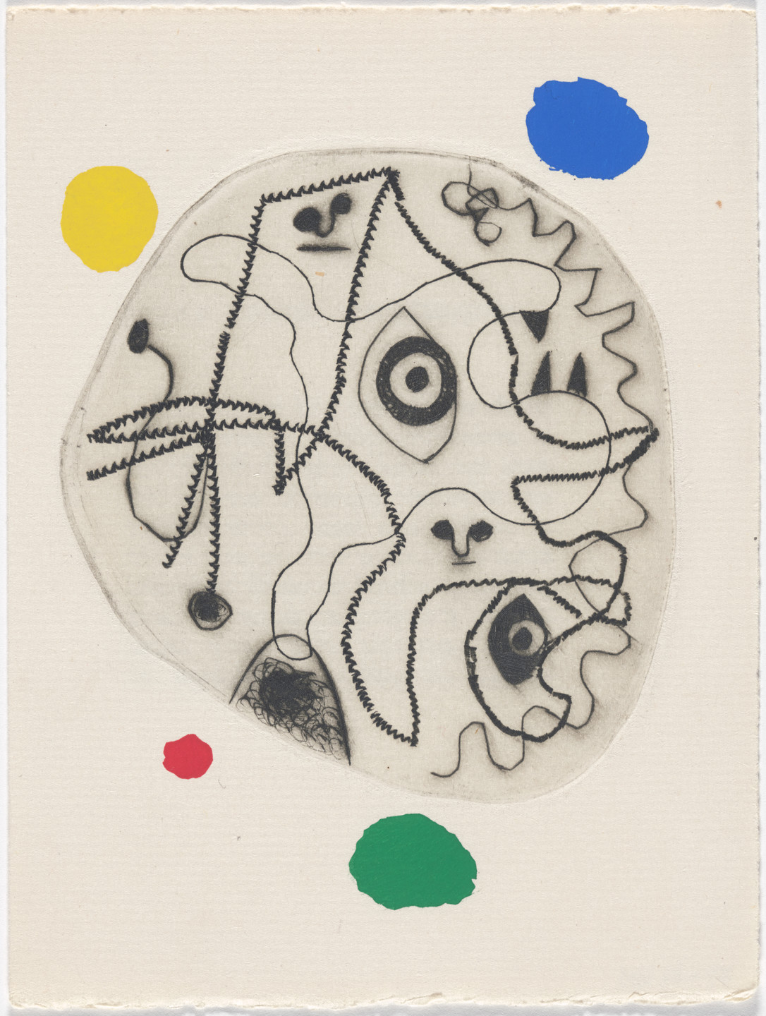 Joan Miró. Plate (page 51) from Le Désespéranto (Desesperanto): Volume III from L'Antitête (The Anti-Head). 1947–49, published 1949