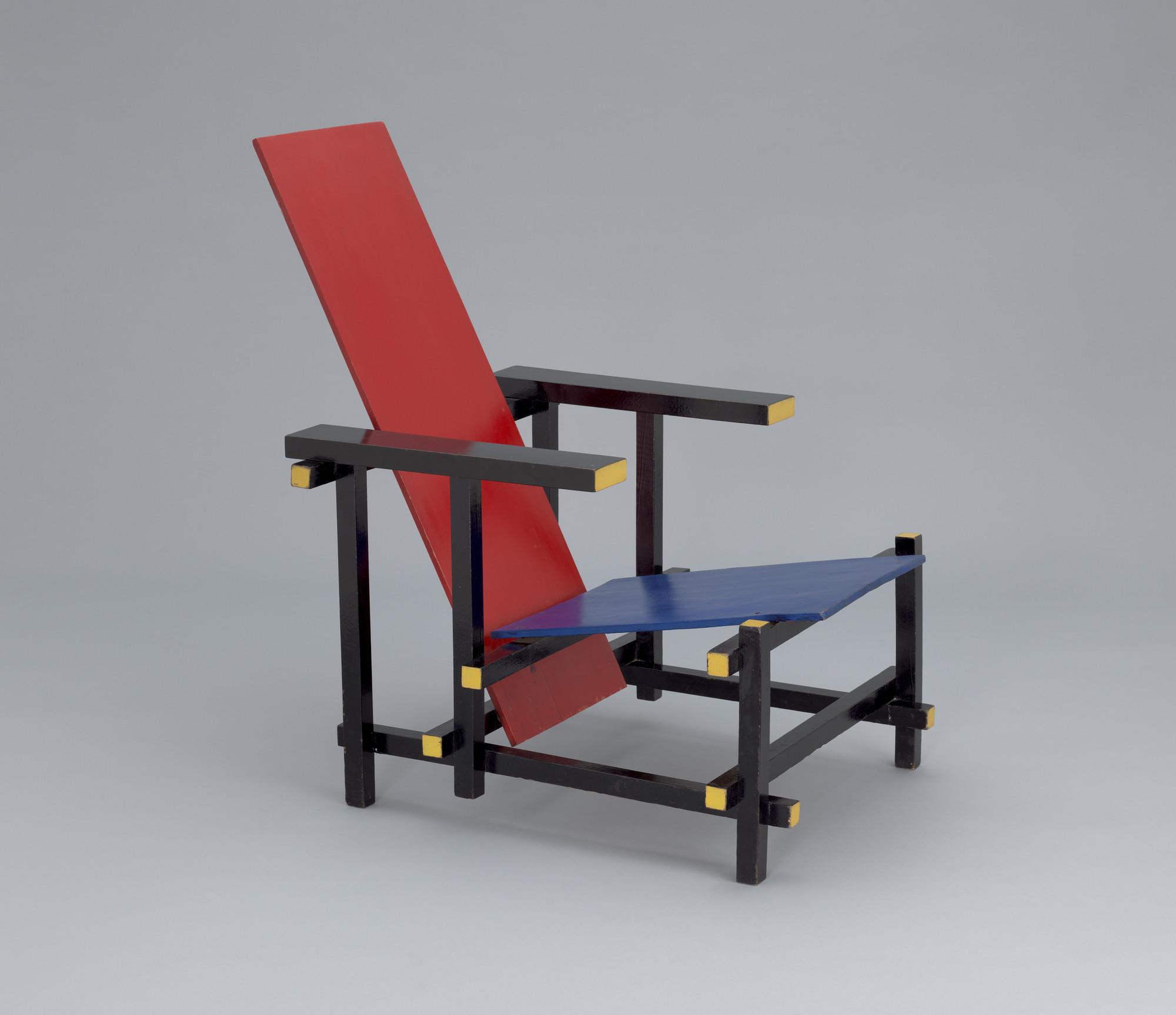 Awe Inspiring Gerrit Rietveld Red Blue Chair 19181923 Moma Frankydiablos Diy Chair Ideas Frankydiabloscom