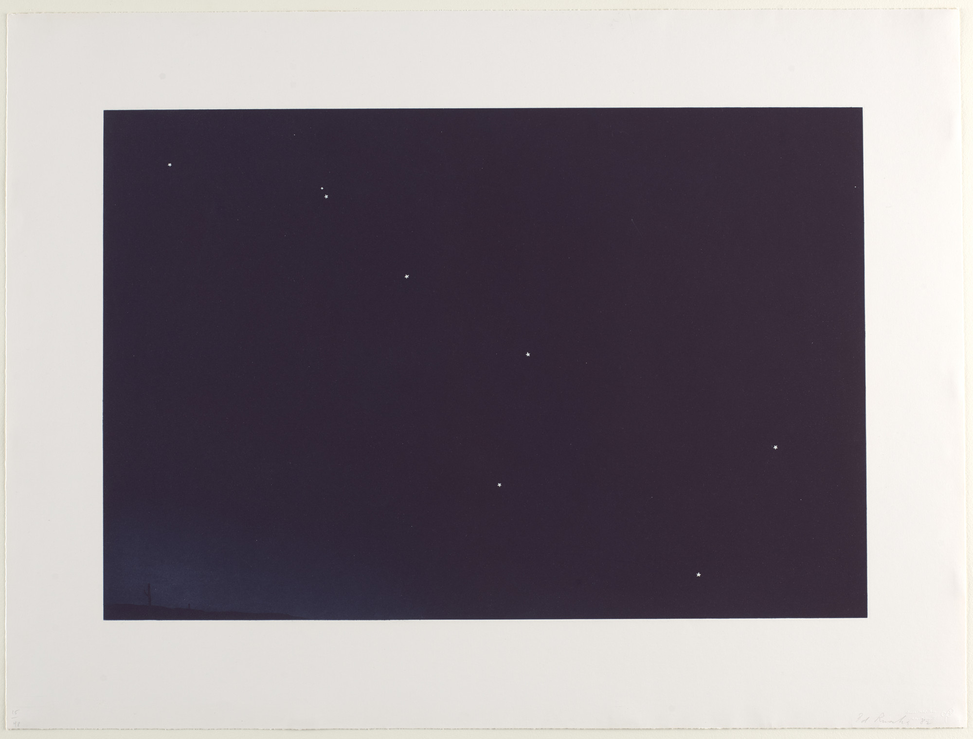 Edward Ruscha. Big Dipper Over Desert. 1982