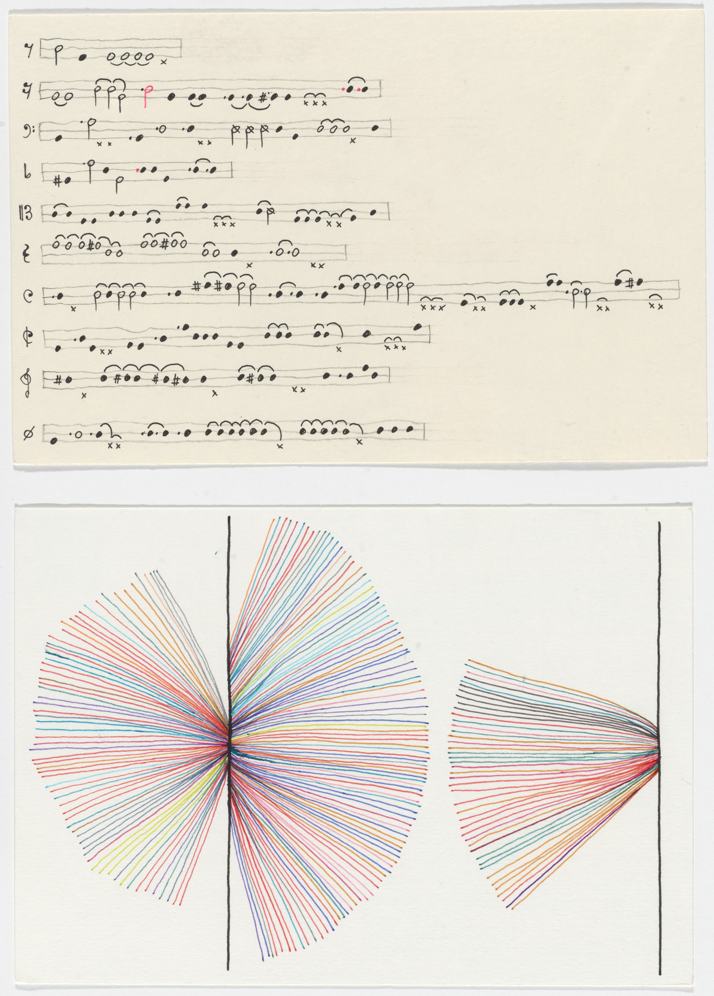 Giorgia Lupi, Stefanie Posavec. Dear Data: Week 7 (Musical Complaints / A Week of Complaints). 2014