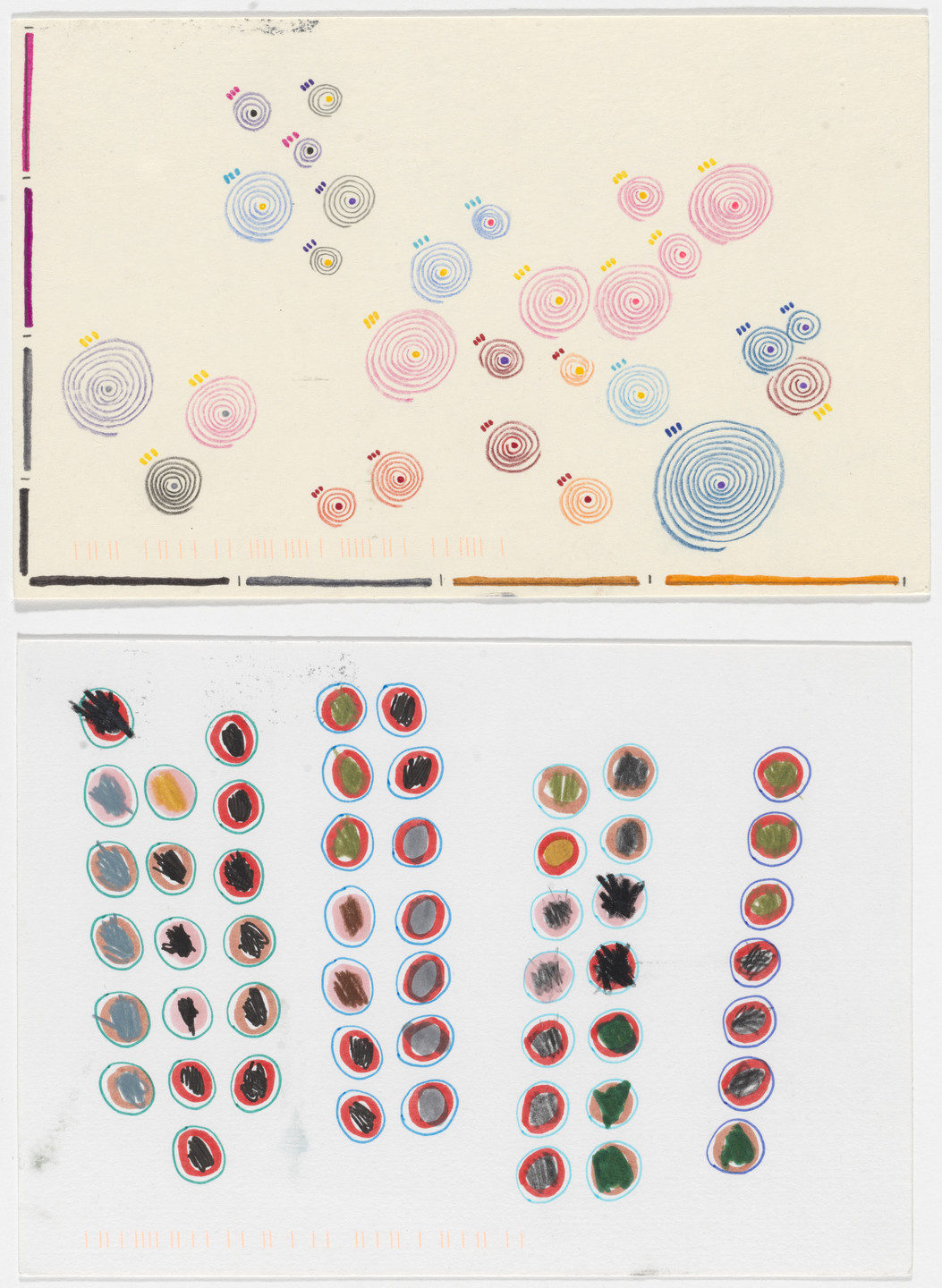 Giorgia Lupi, Stefanie Posavec. Dear Data: Week 33 (Envious / A Week of Envy). 2015