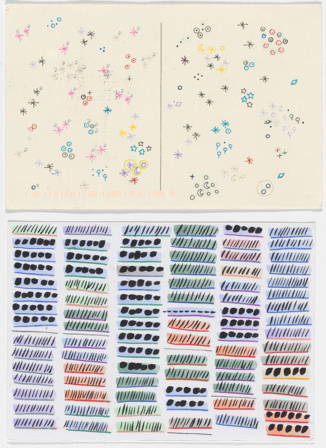 Giorgia Lupi, Stefanie Posavec. Dear Data: Week 49 (Data / A Week of the Word Data). 2015